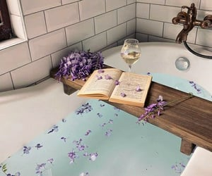 aesthetics, bath, and relaxing image
