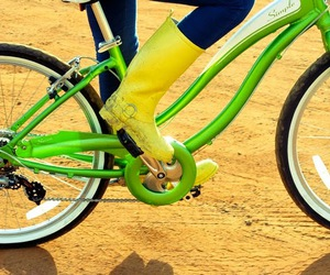 bicycle, green, and boots image