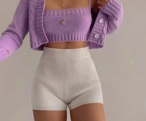outfit, fashion, and lilac image