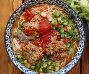 asian food, noodle soup, and vietnamese food image