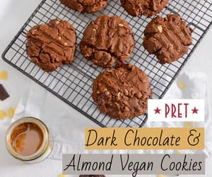 chocolate, Cookies, and vegan image