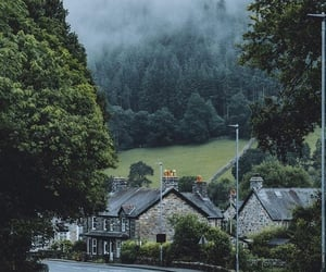 city, green, and Houses image