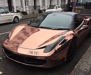 car, rose gold, and luxury image