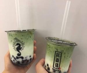 aesthetic, boba tea, and green image