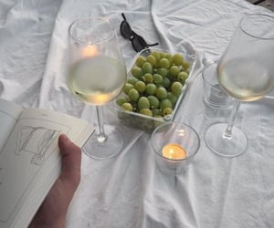 drinks, food, and grapes image