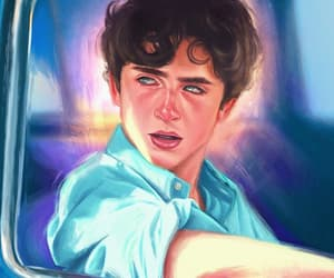 actor, pintura, and timothee chalamet image