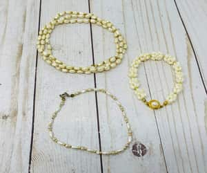 etsy, pearl jewelry set, and faux pearl necklace image