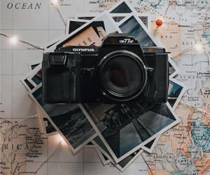 camera, travel, and map image