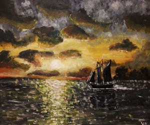 art, boat, and craft image