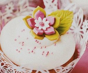 cupcake, flowers, and cake image