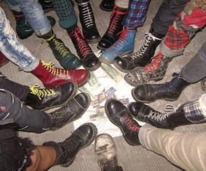 grunge, boots, and punk image