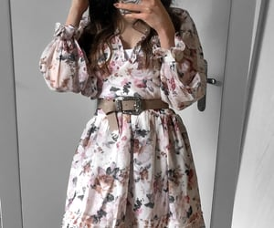 clothes, fashion blogger, and floral dress image