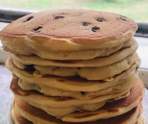 blueberries, blueberry pancakes, and delicious image
