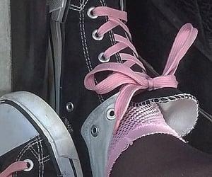 black, grunge, and pink image