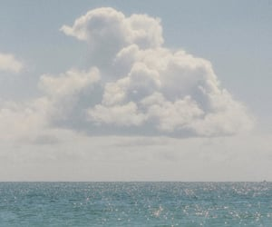 clouds, sea, and aesthetic image