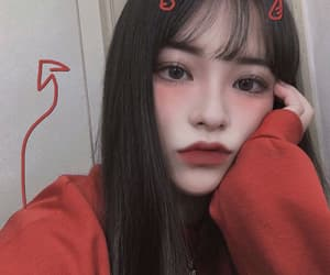 aesthetic, Devil, and korean girl image