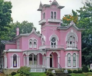 architecture, pink, and victorian image