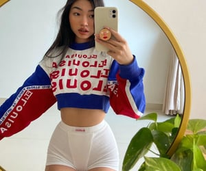 beauty, outfits, and mirror selfie image