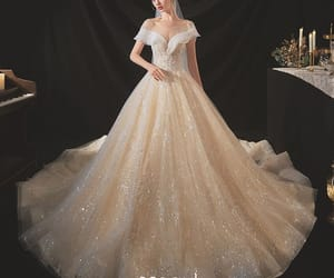 bridal, see through, and bridal gown image
