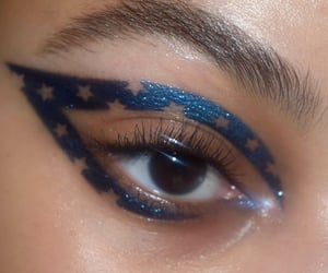 art, blue, and makeup image