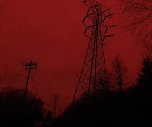 aesthetic, red, and dark image