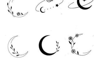 tattoo, art, and moon image