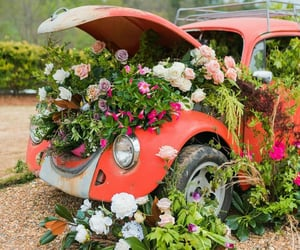 automobiles, flowers, and wedding image