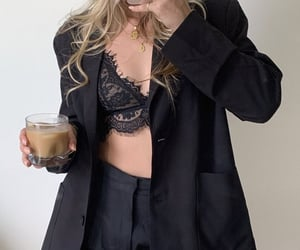 black, bralette, and style image