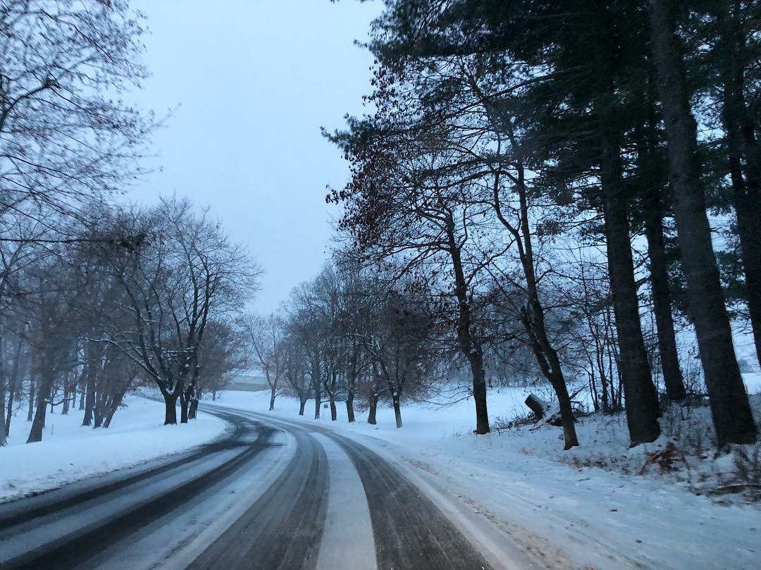 landscape, road, and snow image