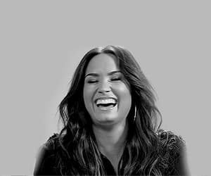 beauty, black and white, and demi lovato image