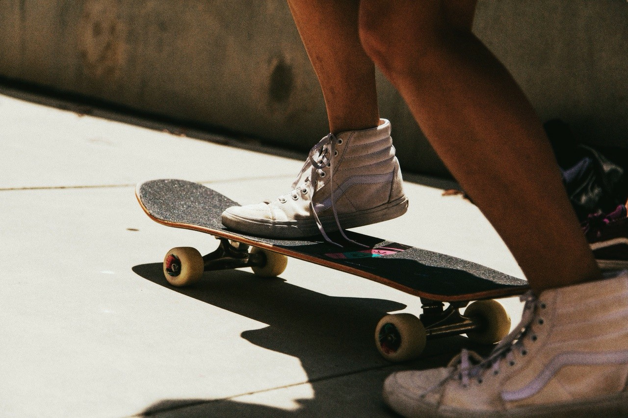 aesthetic, skateboard, and vans image