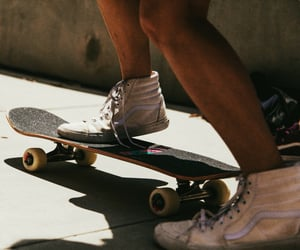 aesthetic, skateboard, and vans image