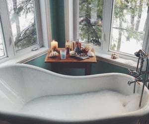 winter, bathroom, and home image