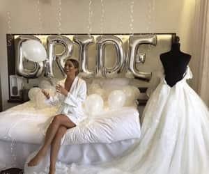 bride, wedding, and balloons image