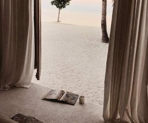 beach, travel, and sunset image