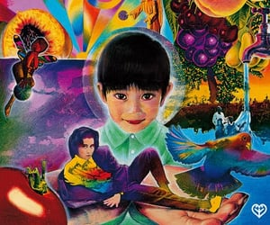 album art, art, and psychedelic image
