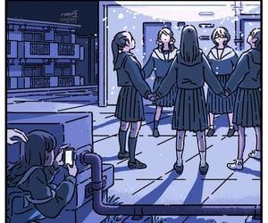 girls, illustration, and magic image