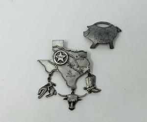 etsy, western brooch, and cowboy pins image
