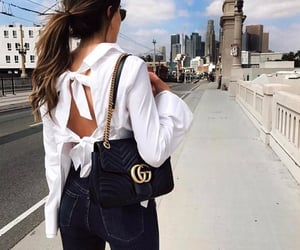 blouse, girl, and gucci image