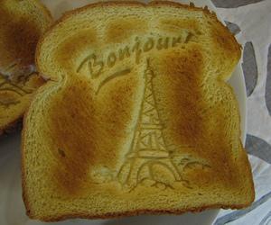 bonjour, paris, and toast image