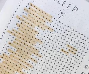 sleep tracker, bujo, and bullet journal image