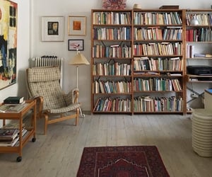 books, interior, and room image