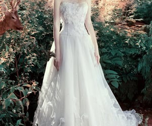 bride, romantic, and dress image