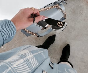 blue, accessories, and sunglasses image