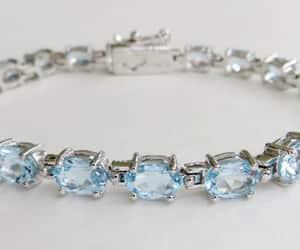 something blue, vintage bracelet, and march birthstone image