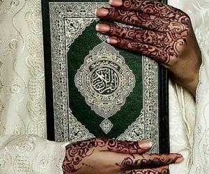 girl, henna, and islam image
