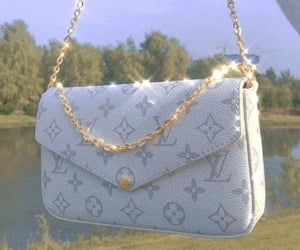 Louis Vuitton, bag, and gold image