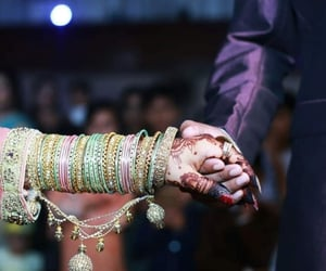 bangles, couple, and hands image