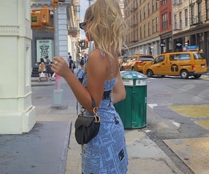 blond hair, christian dior bag, and street style trendy image