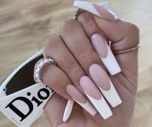 dior, nails, and white image